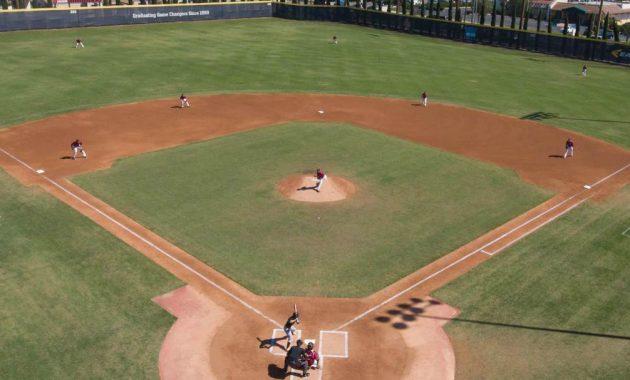 Ukuran lapangan permainan baseball